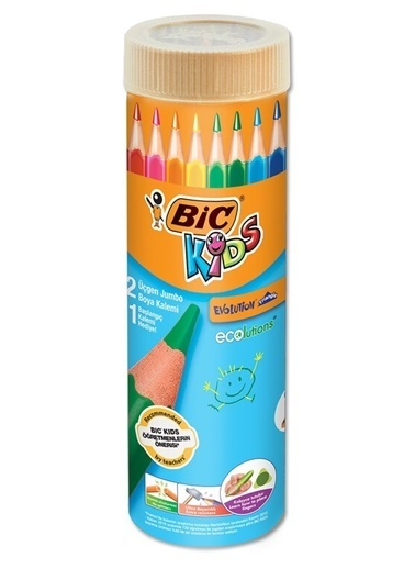 Bic Boya Kalemi 12+1 Metal Tüp Renkli